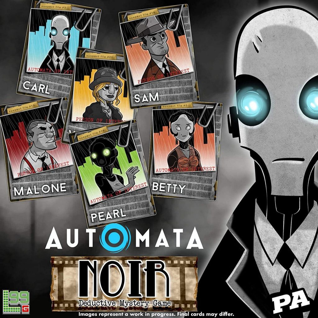 The box art of the Automata Noir card game